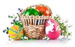 Koszyk wielkanocny z Pasmanterią Pasja - wiele wstążek atłasowych, aplikacji, filc i wiele innych dodatków wiosennych