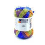 Włóczka Frilly to włóczka w kształcie taśmy ażurowej, którą przeznaczyć możesz na szalik lub kołnierzyk