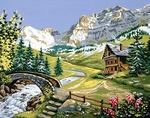 Kanwy tematyczne z krajobrazami i pejzażami do haftu krzyżykowego i gobelinowego. Kolorowe kanwy francuskie doskonałej jakości.
