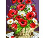 Kanwy francuskie do haftowania muliną we wzory w kwiaty.