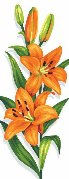 Kanwa ze wzorem kwiatów