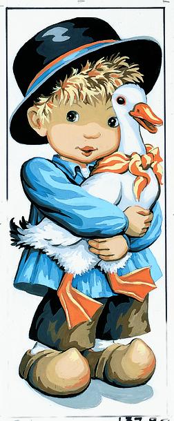 Kanwa podłużna z obrazkiem - wykonana z bawełny tkanina idealna do haftu krzyżykowego i gobelinowego.