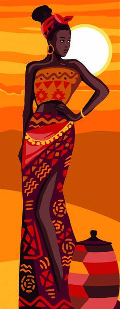 Kanwa - obrazek do haftu przedstawiający kobietę pod tytułem