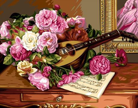 Kanwa francuskiej marki Royal Paris przedstawiająca bukiet róż.