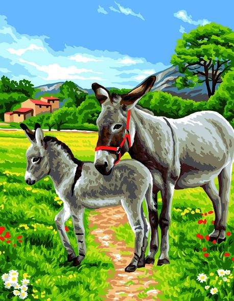 Kanwa z obrazkiem o tematyce zwierząt