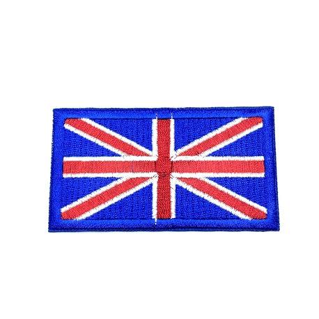 Aplikacja przedstawiająca flagę Wielkiej Brytanii - łatwo przyprasujesz ją do odzieży.