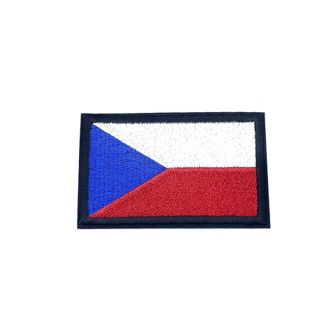 Aplikacja termoprzylepna flaga Czech.