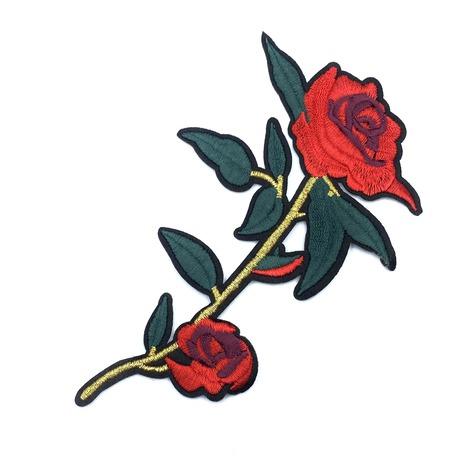 Aplikacja ozdobna dla dziewczyny we wzór czerwonej róży.