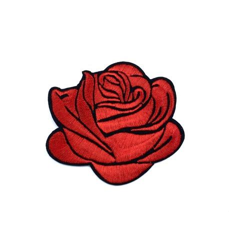 Aplikacja róża termoprzylepna w kolorze czerwonym.