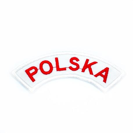 Aplikacja biało-czerwona Polska do naprasowania na odzież.