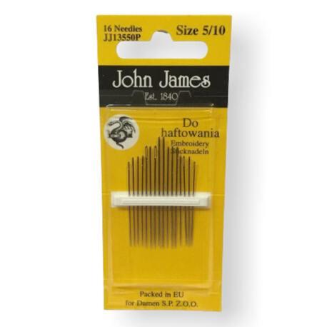 gły do szycia ręcznego do haftu John James