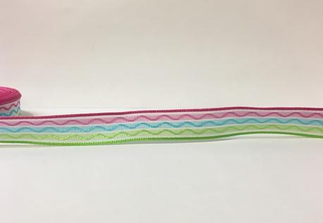Wstążka ozdobna wiosenna z drucikiem szer. 1,7cm (1)