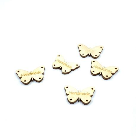 Naszywka we wzór motyli handmade - wykonane z bardzo dobrej jakości drewna.