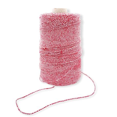 Sznurek elastyczny biało-czerwony 2mm