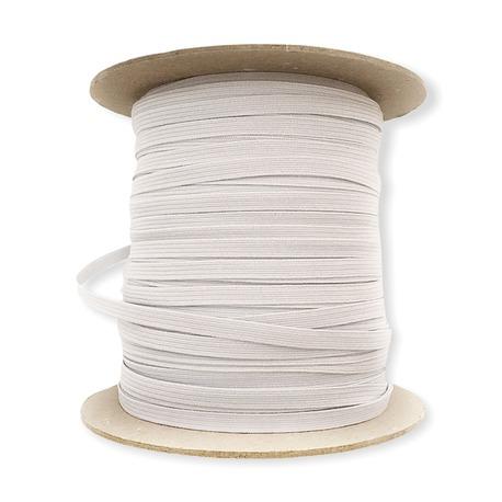 Płaska gumka w kolorze białym o szerokości 5mm