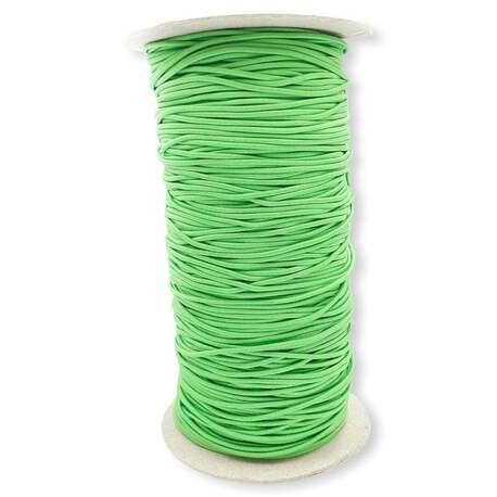 Guma okrągła pasmanteryjna kolor zielony