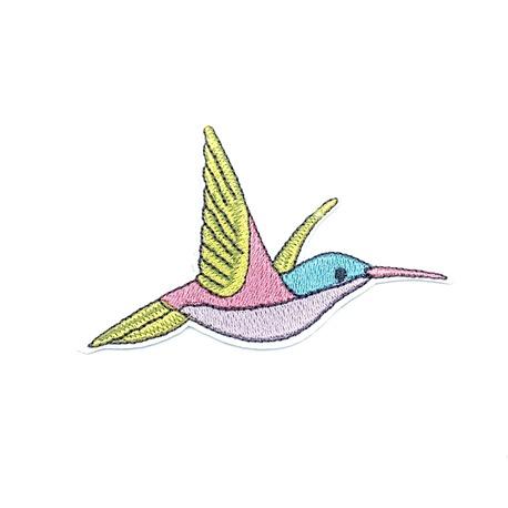 Aplikacja do naprasowania - kolorowy ptak na koszulkę.