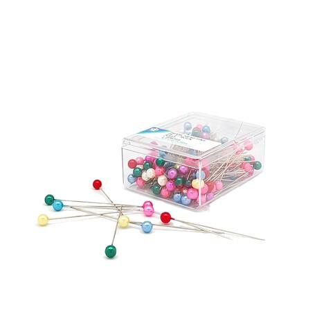 Szpilki kolorowe z perłową główką 10 gramów