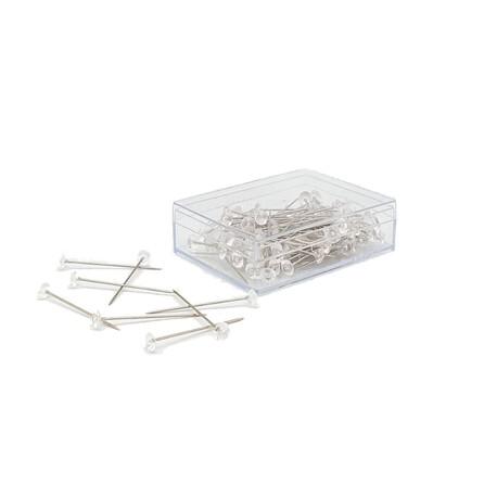 Szpilki krawieckie marki Silber z szklaną główką wykorzystywane do ozdób i krawiectwa