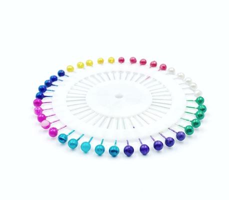 Karnet szpilek z perłową kolorową główką 40szt. (1)