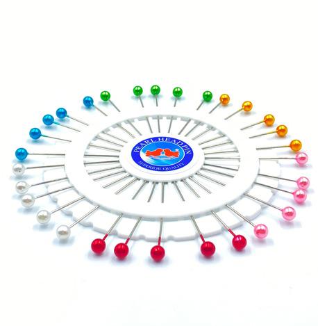 Karnet szpilek z perłową kolorową główką 30szt. (1)