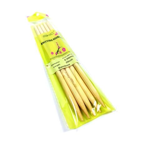 Druty bambusowe do skarpet SKC 6mm (1)