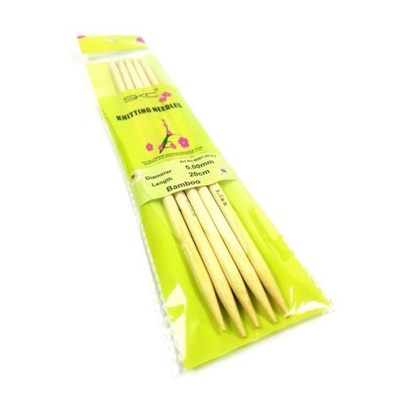 Druty z bambusu do skarpet w rozmiarze 5mm