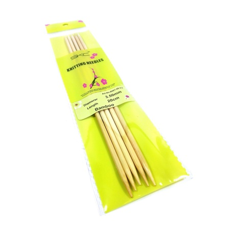 Zestaw bambusowych drutów do skarpet 3,5mm