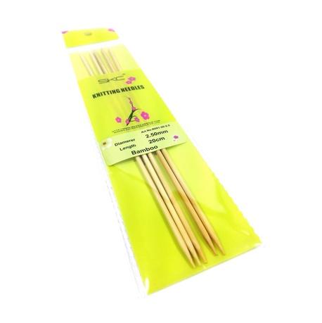 Druty bambusowe do skarpet 2,5mm grubości