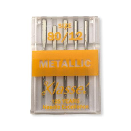 Igły Klasse półpłaskie w rozmiarze 80 do nici metalizowanych