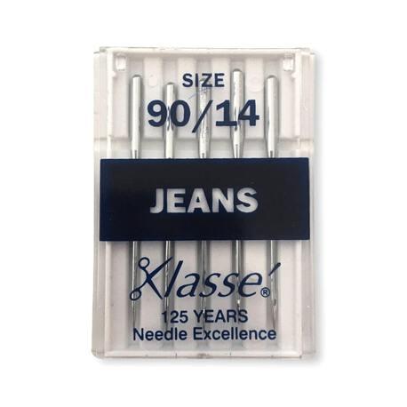 Igły półpłaskie, maszynowe do jeansu i cięższych tkanin - rozmiar igieł 90