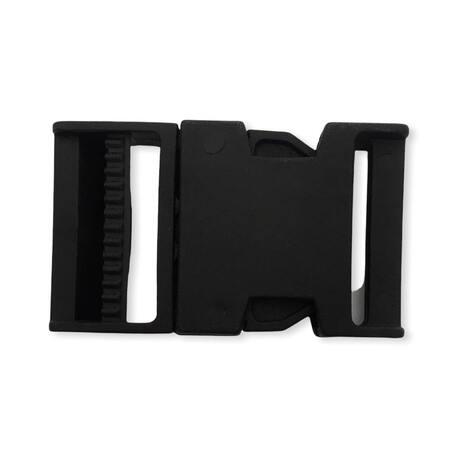 Plastikowa klamra czarna z otworem 4cm do plecaków