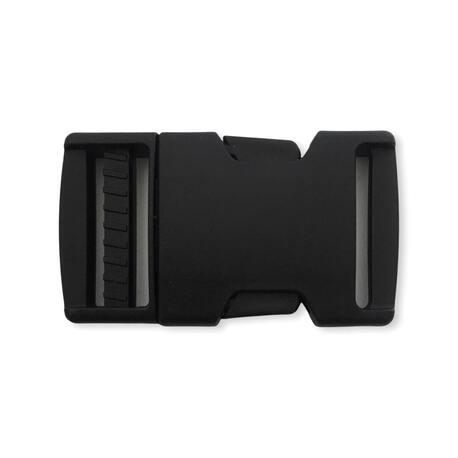 Czarna klamra plastikowa z otworem 2,5cm