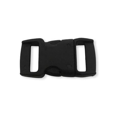 Czarna klamra plastikowa do plecaka 1cm