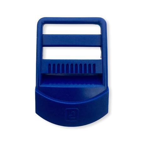Niebieski regulator plastikowy zaciskowy z otworem 3cm