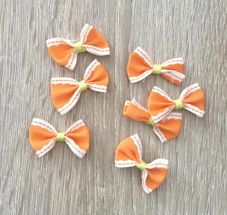 Kokardka ozdobna pomarańczowa RR32 (1)