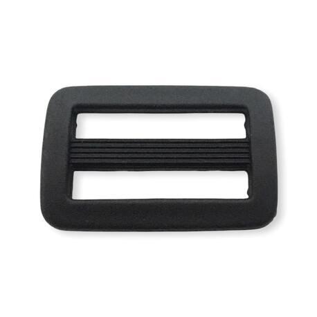 Czarny regulator plastikowy do odzieży i toreb 25mm
