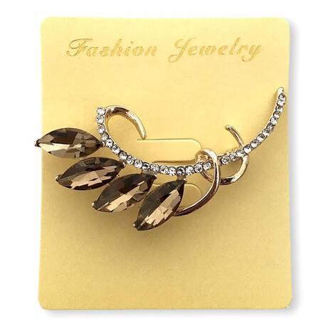 Broszka ozdobna elegancka złoty kwiat
