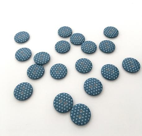 Guzik plastikowy ażurowy w kropki 15mm (1)