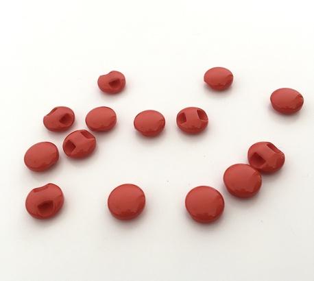 Guzik bluzeczkowy czerwony 10mm (1)