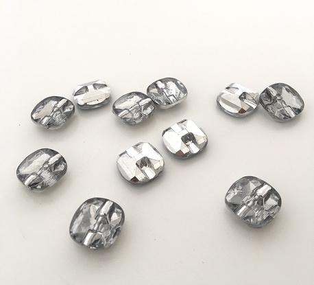 Guzik bluzeczkowy srebrny świecący 10mm (1)