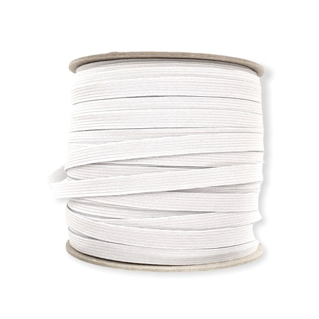 Guma bieliźniana płaska w kolorze białym 8mm