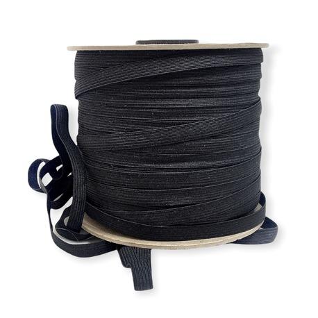 Guma bieliźniana płaska w kolorze czarnym o szerokości 8mm