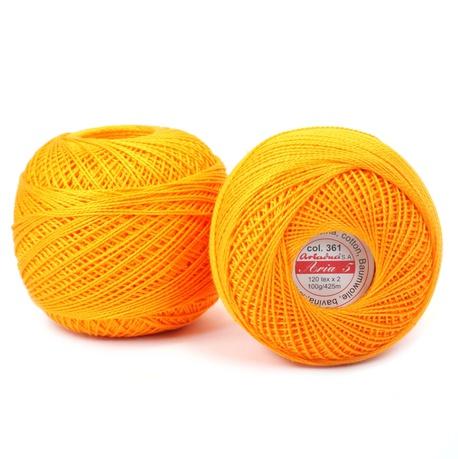 Kordonek Aria 5 100g pomarańczowy 361 (1)