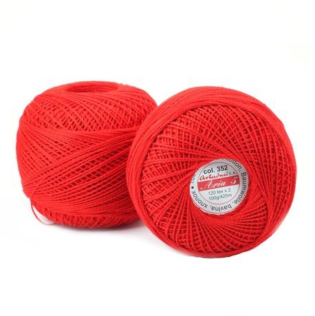Kordonek Aria 5 100g czerwony 352 (1)
