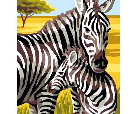 Kanwa francuska we wzór Zebry do wyszycia muliną.