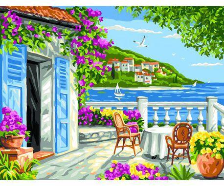 Kanwa z obrazem, krajobrazem o nazwie
