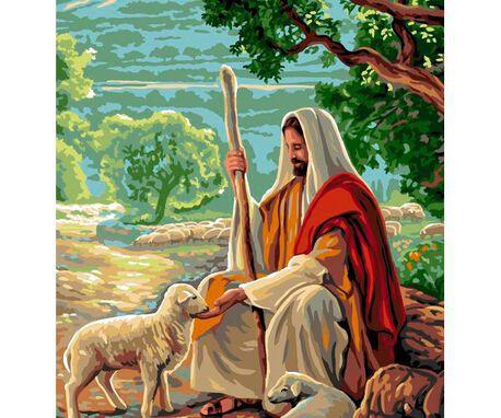 Kanwa religijna z motywem sakralnym. Świetna dekoracja, którą trzeba wyhaftować muliną.