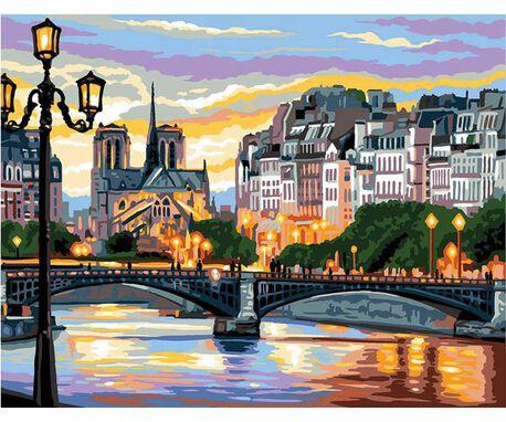 Kanwa z nadrukiem z krajobrazem marki Royal Paris