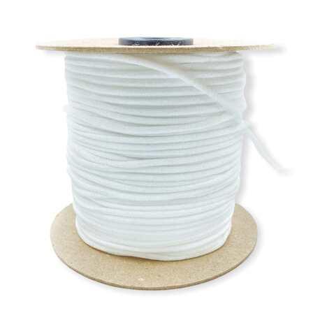 Sznurek elastyczny lycra 3mm w kolorze białym